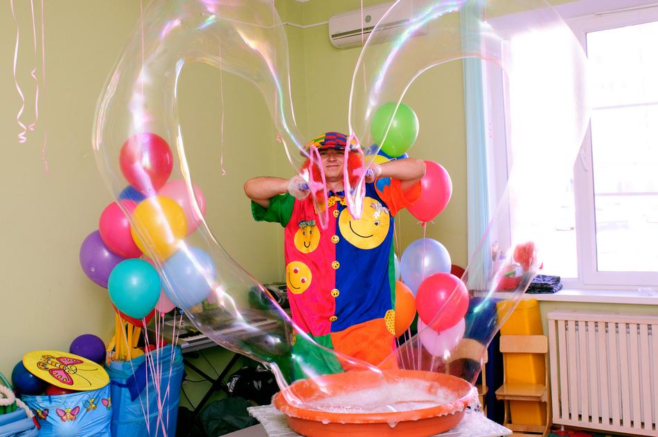 Шоу мыльных пузырей сделать своими руками