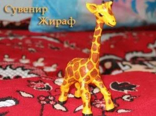 Поделки из глины жираф 54